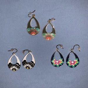 Set of 3 Vera Bradley earrings